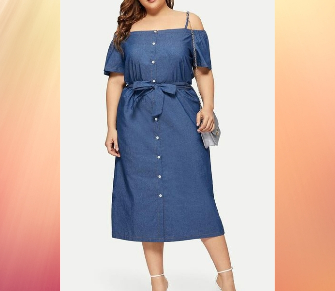 Джинсовые платья больших размеров