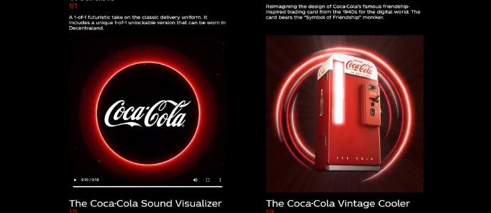 Еще один пример NFT от Кока-Кола